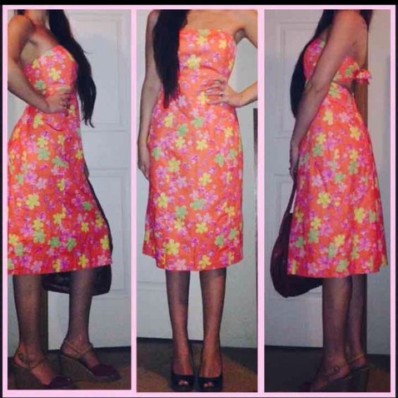 NEW LILLY PULITZER GORGEOUS FLORAL DRESS! LILLY PULITZER GORGEOUS FLORAL DRESS! New without tags so it's in excellent condition, minus the tag from the zipper isn't there, but it zippers perfectly fine! Size 4 Ties in back Just a completely gorgeous & classy dress! MSRP $235 Lilly Pulitzer Dresses