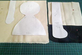 Transfira os moldes para os tecidos