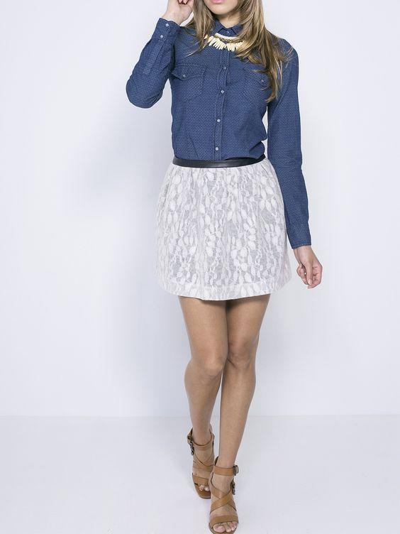 jupe femme dentelle tendance chic http milena pantalons jupes et combinaisons. Black Bedroom Furniture Sets. Home Design Ideas
