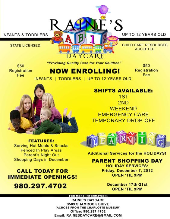 raine s daycare daycare flyer ideas teaching daycare daycare forms