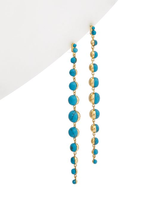 Spotted this nOir 14K Plated Turquoise Earrings on Rue La La. Shop (quickly!).
