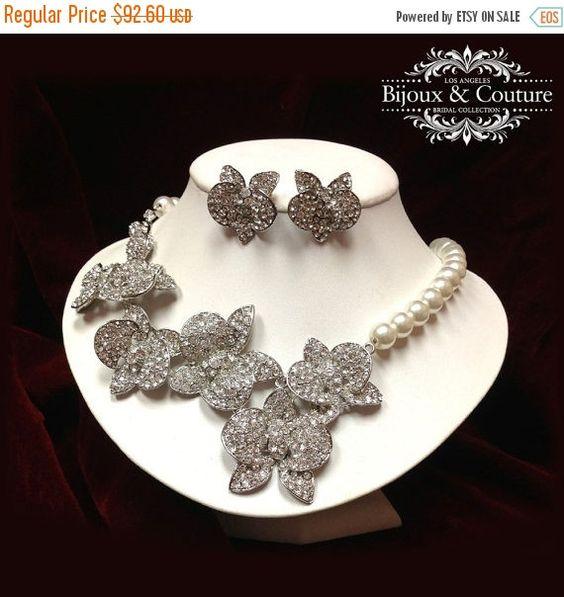 Gioielli da sposa set perla gioielli gioielli di di GlamDuchess