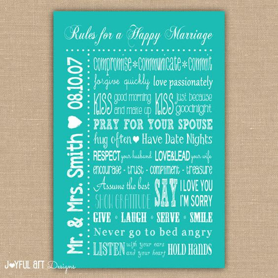 Happy Marriage, Rules For And Marriage On Pinterest