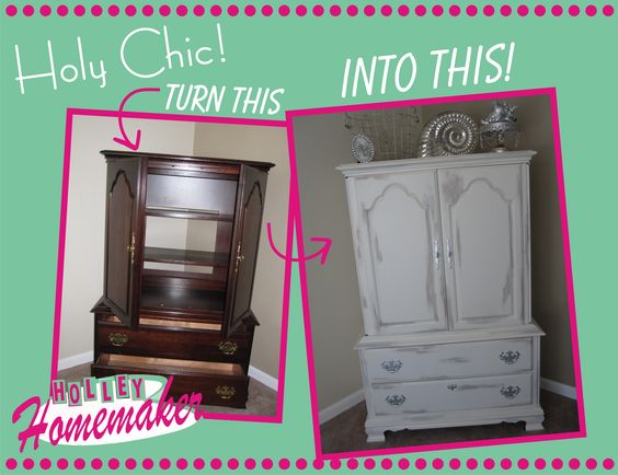 Makeover your old furniture with just a little bit of paint! Learn how at http://lilholleyhomemaker.wordpress.com