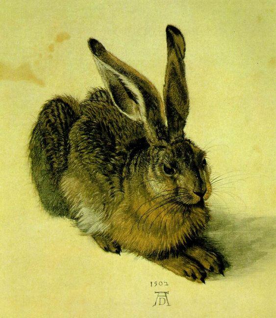Albrecht Durer, A Young Hare  1502 (140 kB); Watercolor and gouache on paper, 25 x 23 cm; Graphische Sammlung Albertina, Vienna