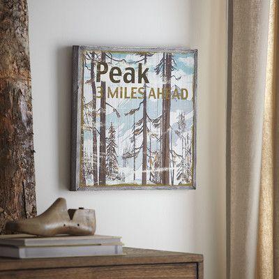 Birch Lane Peak Wood Wall Art