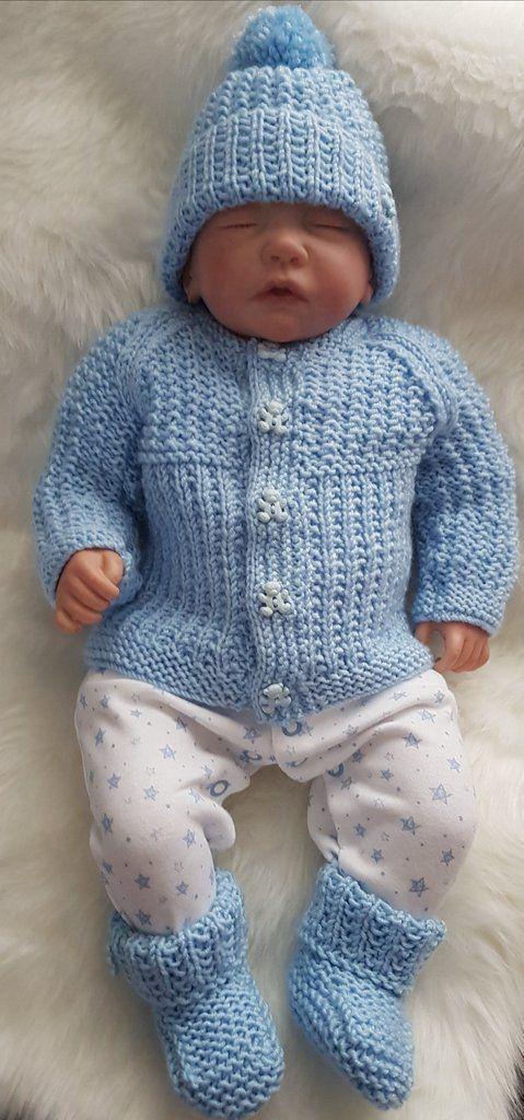Baby boy designer knitting pattern /'Gwyn/' 0-3 /& 6-12mths *Free postage*