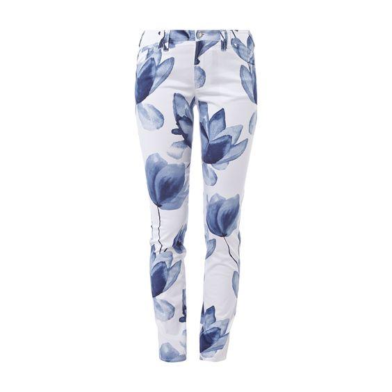 #Armani #Jeans #Stoffhose mit #floralem #Print fanduuml