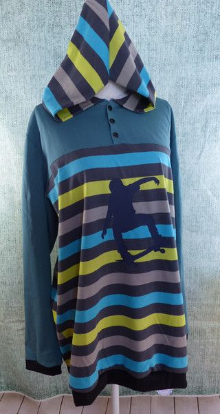 Kapuzenpullis - Shirt für Kinder mit Down-Syndrom Gr. 170/176 - ein…