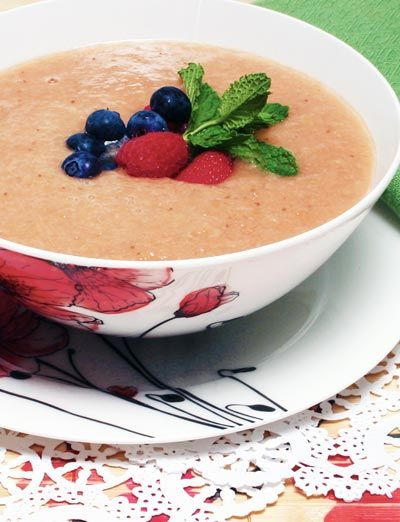 Chilled Fruit Soup with Berries
