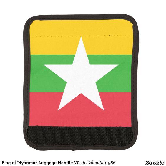Flag of Myanmar Luggage Handle Wrap