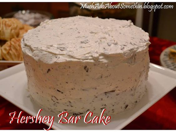 The BEST cake ever - Hershey Bar Cake!