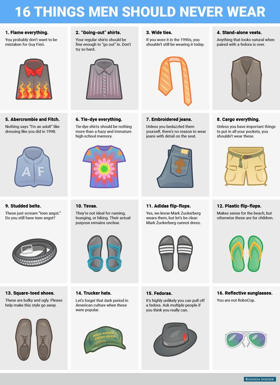 16 things every grown man should purge from his closet.