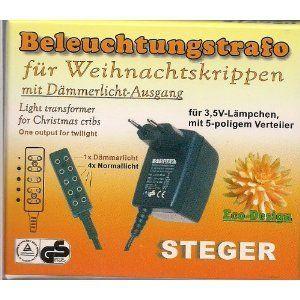 Steger Beleuchtungstrafo 3,5V Lämpchen Dämmerlicht Puppenhaus Krippen Modellbau