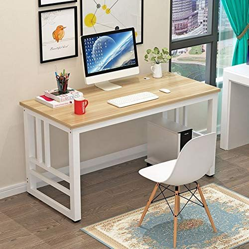 Dlibig Computer Desks Office Tables Workstation Home Office Study Desk Steel Frame Wooden Desk Desk Co Home Office Computer Desk Office Table Home Office Table