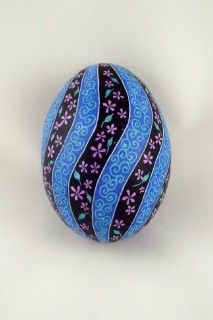 blue and black egg beautiful: