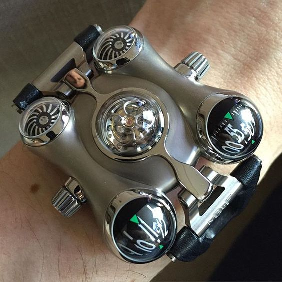 @mbandf ! Look closely you'll see Max in the reflection #watchmaking #horology #tourbillon by nmanousos