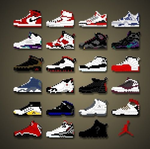 the collection of jordan shoes