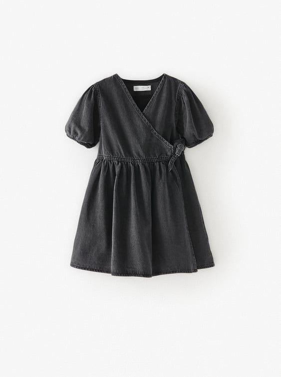 Zara Kids Denim Wrap Dress Nel 2020