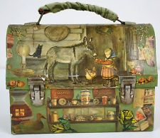 Vintage Lunch Box Country French Style Dome Holly Hobbie: