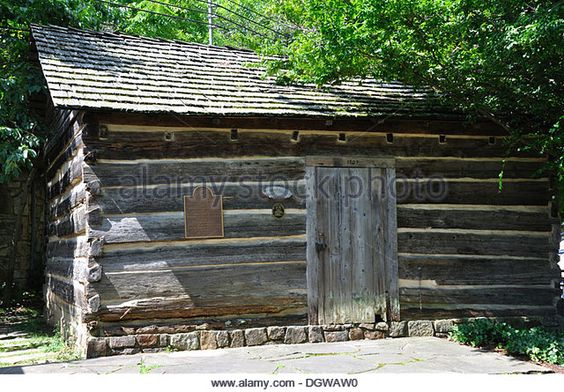 Historic Ogle Log Cabin, Gatlinburg, Tennessee, USA - Stock Image