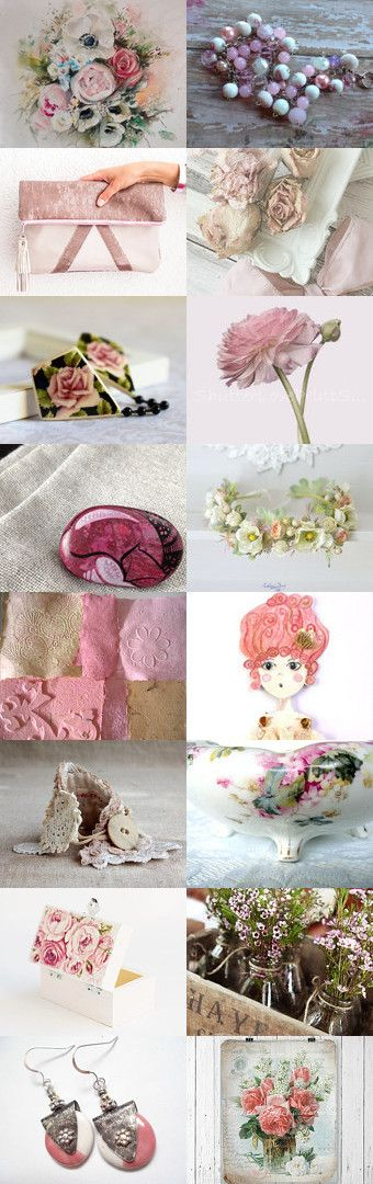 Shabby Pink by FrenchPaperMoon on Etsy--Pinned+with+TreasuryPin.com