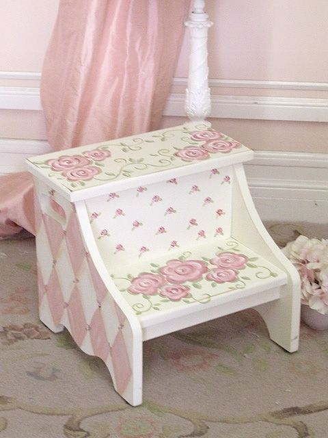 shabby chic shabby chic ideas pinterest shabby chic step stools and pine. Black Bedroom Furniture Sets. Home Design Ideas