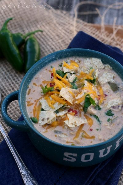 Spicy White Chicken Chili (crockpot) | Celery, Red peppers ...