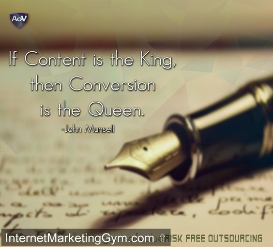 Content is the King, Conversion is the Queen. #agentsofvalue #marketing #Consultant #digitalmarketing #outsourcing