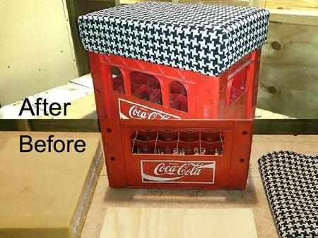 Coca-Cola Crate Ottoman