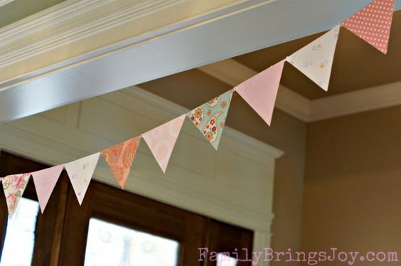 Baby Shower Girl Bunting Banner