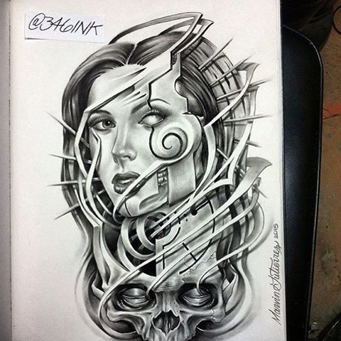 I would really love to tattoo this on someone, this is a freehand original…