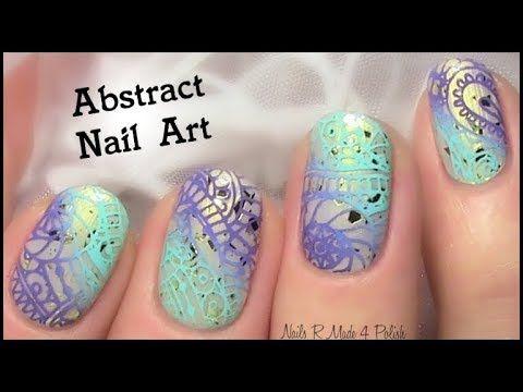 Nailart Abstract For Spring Summer Nails Tutorial Easy Youtube Summer Nail Tutorials Summer Nails Cool Nail Art