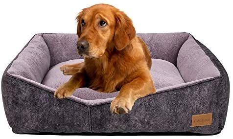 Amazon Com Coohom Rectangle Washable Dog Bed Warming Comfortable Square Pet Bed Simple Design Style Durable Dog Crate Bed F Dog Crate Bed Dog Bed Crate Bed