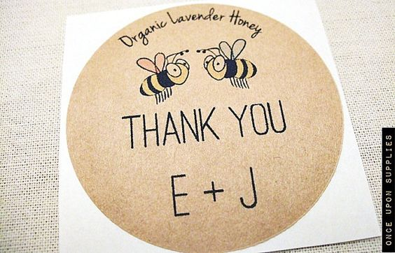 150 Honey Jar Labels for  Honey Wedding Favors by OnceUponSupplies, $67.00