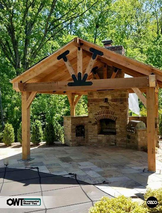 8 In Post To Beam Laredo Sunset Ozco Building Products Backyard Pavilion Backyard Gazebo Outdoor Pavilion