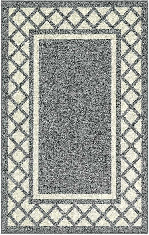 Maples Rugs Bella Kitchen Rugs Non Skid Accent Area Carpet Made In Usa 2 6 X 3 10 Grey In 2020 Maples Rugs Area Carpet Bella Kitchen