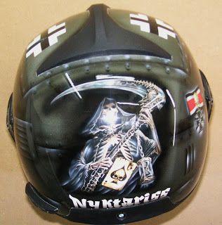 Moto Helmet Art Design #162 ~ Hand Painted Helmets - Design your helmet today..!!