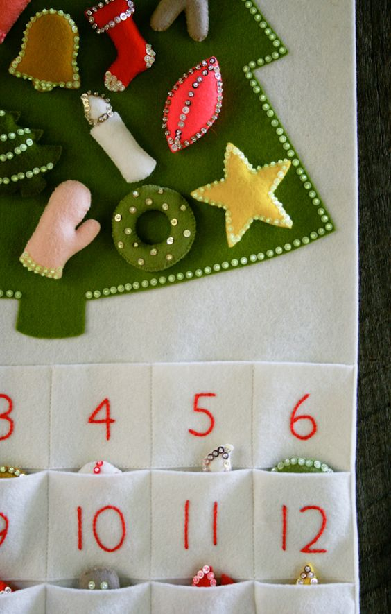 Knitting Pattern Christmas Advent Calendar : Corinne s Thread: Advent Calendar - Purl Soho - Knitting Crochet Sewing Embro...