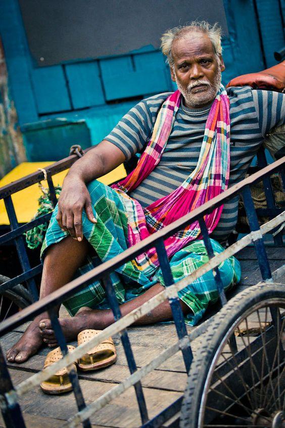 Rickshaw puller - Kolkata photography