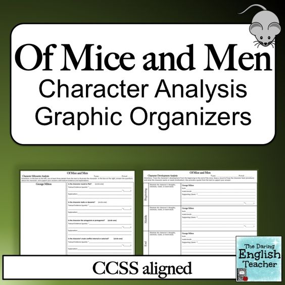 a character analysis of the story of mice and men Character study of candy in of mice and men by steinbeck in the novel, 'of mice and men' the character candy, was an older man, who was very trustworthy, reflective on his actions, and anxious at.