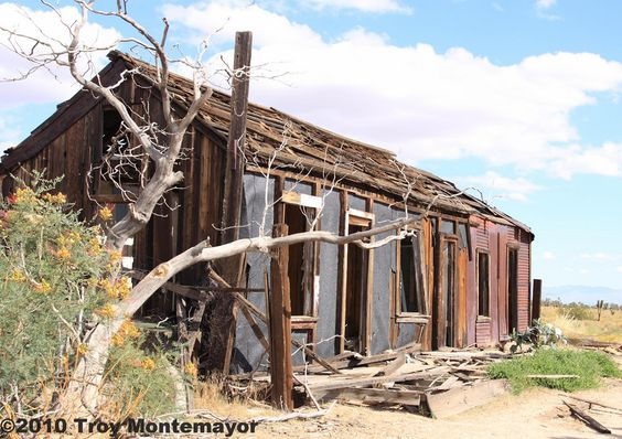 Abandoned Building, Cima, California. Mojave National Preserve