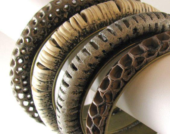 Tutorial polymer clay openwork bracelets by PolymerClayTutorials, $17.00