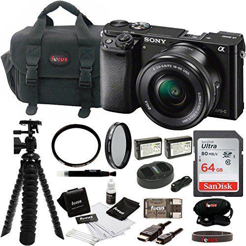 Sony Alpha Ilce 6000l B A6000 Digital Camera With 16 50mm Mirrorless Camera Digital Camera Sony Camera