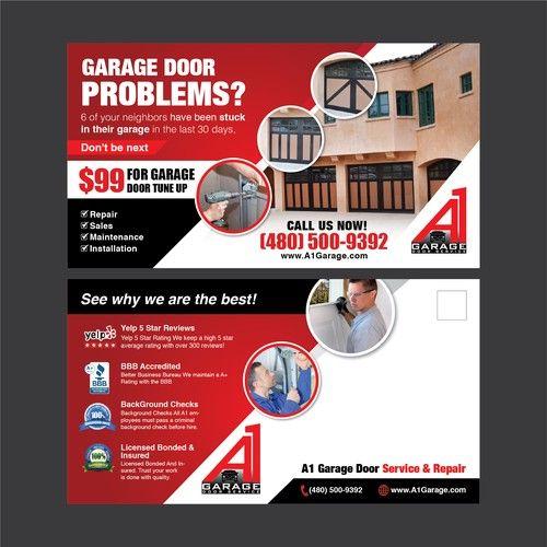 Create A 11 X 6 Garage Door Flyer Postcard Flyer Or Print Contest Postcard Flyer Print Design Garage Doors Flyer Printing Flyer