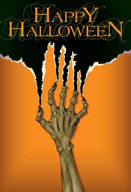 Scary Halloween Zombie Hand – Vektorgrafik