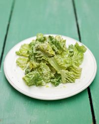 Jamie Oliver's Healthy recipe for caesar salad dressing made with greek yogurt