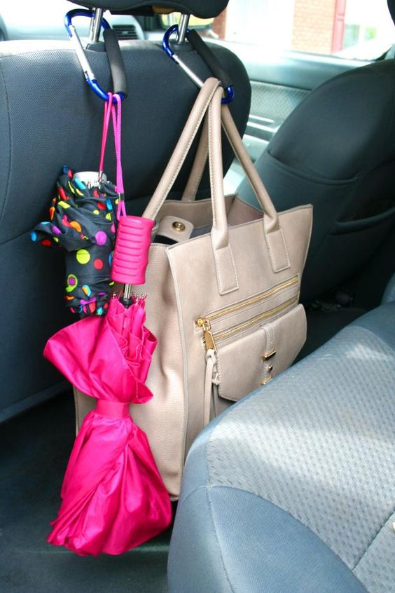 HGTV.com shares tips on how to organize your car with items you can find at the dollar store.