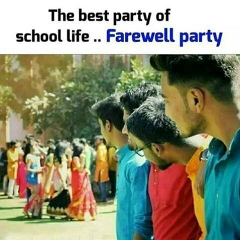 And Our Bhikari School Not Ready To Give Farewell Party School Quotes Funny Childhood Memories Quotes Fun Quotes Funny