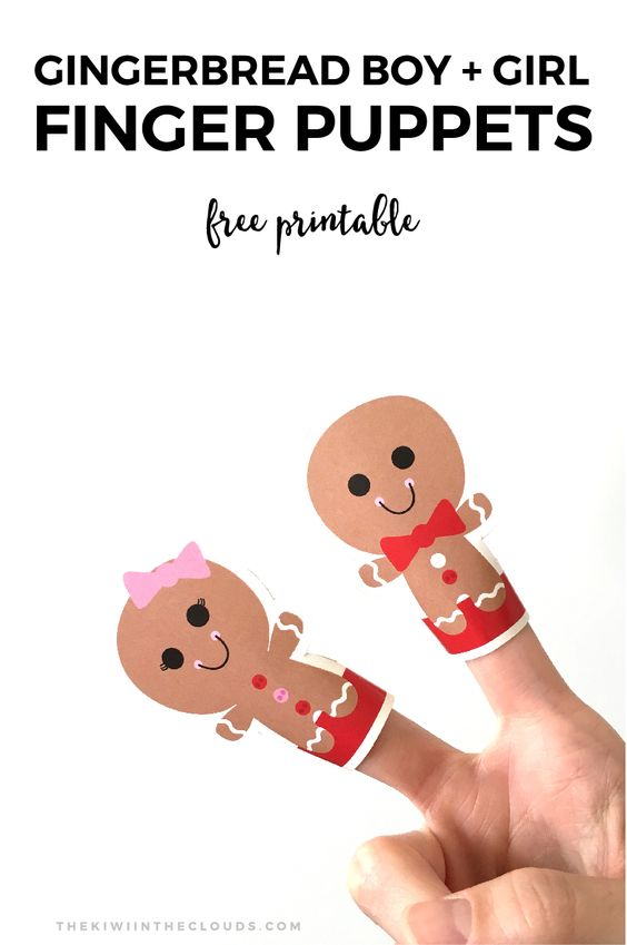 Puppets, Finger puppets and Gingerbread on Pinterest